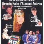 affiche du concert du 12 août 2014 à la grande halle d'Aumont